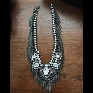 Statement crystal bib necklace